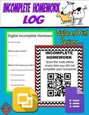 Digital Incomplete Homework Log (Google Forms & Slides)