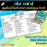 Digital Index Card: ABA ABC Card