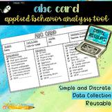 Digital Index Card: ABA ABC Card