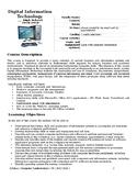 Digital Information Technology 1 Syllabus