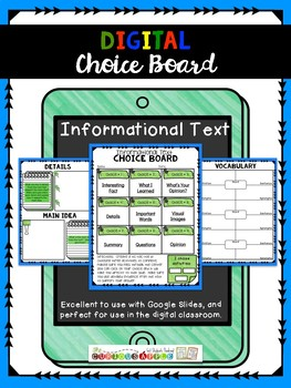 Digital Informational Text Choice Board