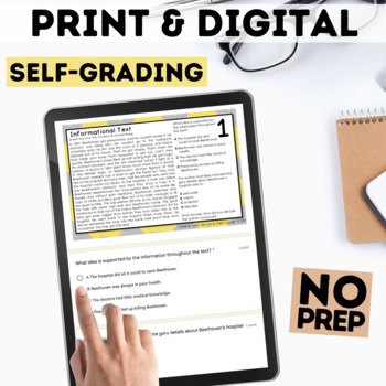 Digital Informational Text Task Cards for Google Forms™