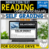 Digital Informational Text for Google Drive™  Solar Energy   Distance Learning