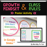 STUDENT CREATED Growth Mindset Posters Activity Classroom Rules Google Classroom