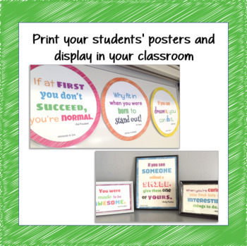 STUDENT CREATED Growth Mindset Posters Activity|Classroom Rules|Google Classroom