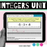 Digital Integers Unit (add subtract multiple divide negati