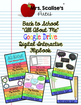 """Digital Interactive """"ALL ABOUT ME"""" Back to School Flipbook- Google Compatible"""
