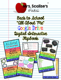 """Digital Interactive """"ALL ABOUT ME"""" Back to School Flipbook"""