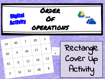 Digital Interactive Activity - Order of Operations