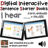 Digital Interactive Books - I Hear - Sentencer Starter Boo