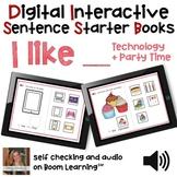 Digital Interactive Books - I Like - Sentencer Starter Boo