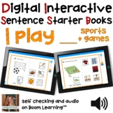 Digital Interactive Books - I Play - Sentencer Starter Boo