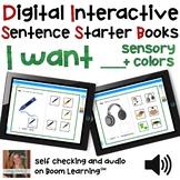Digital Interactive Books - I Want - Sentencer Starter Boo