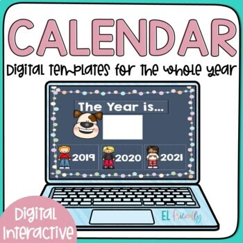 Digital Interactive Calendar for Newcomers English Learners Google Classroom