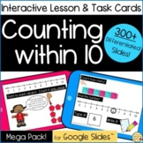 Digital Interactive Counting Within 10 | Google Slides | Lesson & Task Cards