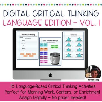 #TPTDIGITAL Digital Interactive Critical Thinking Activiti