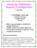 Digital Interactive Distributive Property of Multiplicatio
