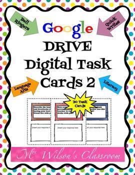 Digital Interactive ELA Task Cards 2