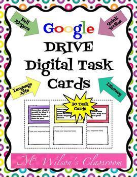 Digital Interactive ELA Task Cards
