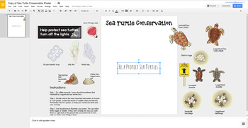Digital Interactive FREEBIE for Earth Day - Sea Turtle Conservation Posters