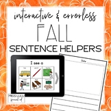 Digital Interactive Fall Errorless Sentence Helpers