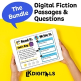 Digital Interactive Fiction Passages - Google Slides™ & Seesaw™