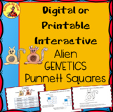 Interactive ALIEN GENETICS PUNNETT SQUARE Activity Phenoty