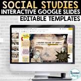 Digital Interactive Google Slides Templates for Social Stu