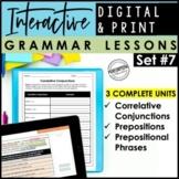 Digital Interactive Grammar Lessons | Prepositions & Prepo