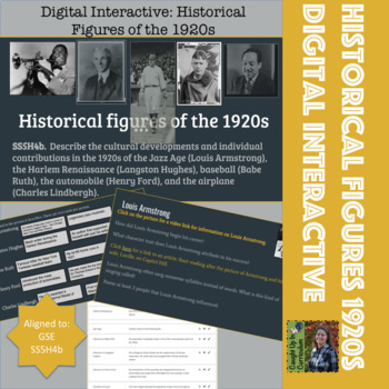 Digital Interactive: Historical Figures of the 1920s GSE SS5H4b