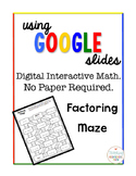 Algebra Digital Interactive Math Factoring Maze