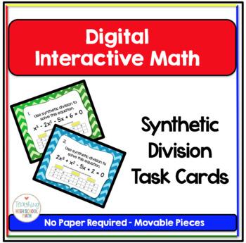 PreCalculus Digital Interactive Math Synthetic Division Ta