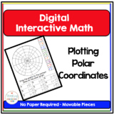 PreCalculus Digital Interactive Math Plotting Points in Polar Coordinates