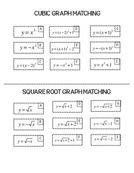 Digital Interactive Math PreCalculus or Algebra 2 Gigantic Graph Matching