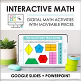 Digital Interactive Math Slides + Self-Grading Quizzes (Th