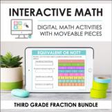 Digital Interactive Math - Third Grade NF Standards Bundle