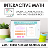 Digital Interactive Math for 2.OA.1 - Word Problems (Slide