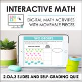 Digital Interactive Math for 2.OA.3 - Even and Odd (Slides + Self-Grading Quiz)