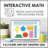 Digital Math for 3.G.2 - Partitioning Shapes (Slides + Sel