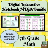 Digital Interactive Notebook Math- 7th Grade -Distance Lea