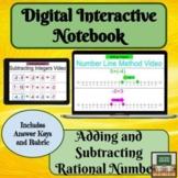 Digital Interactive Notebook- Adding- Subtracting- Rationa