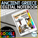 Digital Interactive Notebook | Ancient Greece Google Classroom Distance Learning