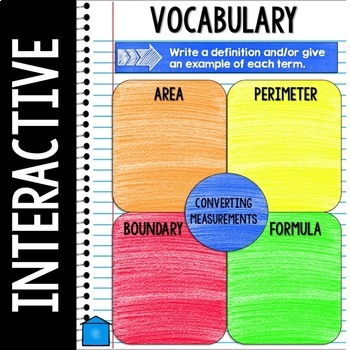 Digital Interactive Notebook - Area and Perimeter - Distance Learning