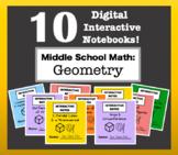 Digital Interactive Notebook BUNDLE - Middle School Geometry