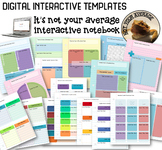 Digital Interactive Notebook Bell Ringers and Templates to Build Your Notebook
