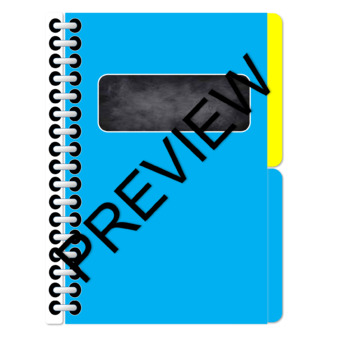 Digital Interactive Notebook- Blank 2 tabs