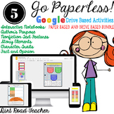 Story Elements, Author's Purpose, Interactive Google Drive