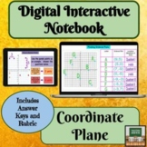 Digital Interactive Notebook - Coordinate Plane - Distance