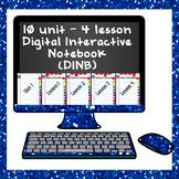 Digital Interactive Notebook (DINB) Google Slides Template – editable dark blue