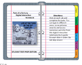 Digital Interactive Notebook (DINB) Turn of a Century Google Classroom